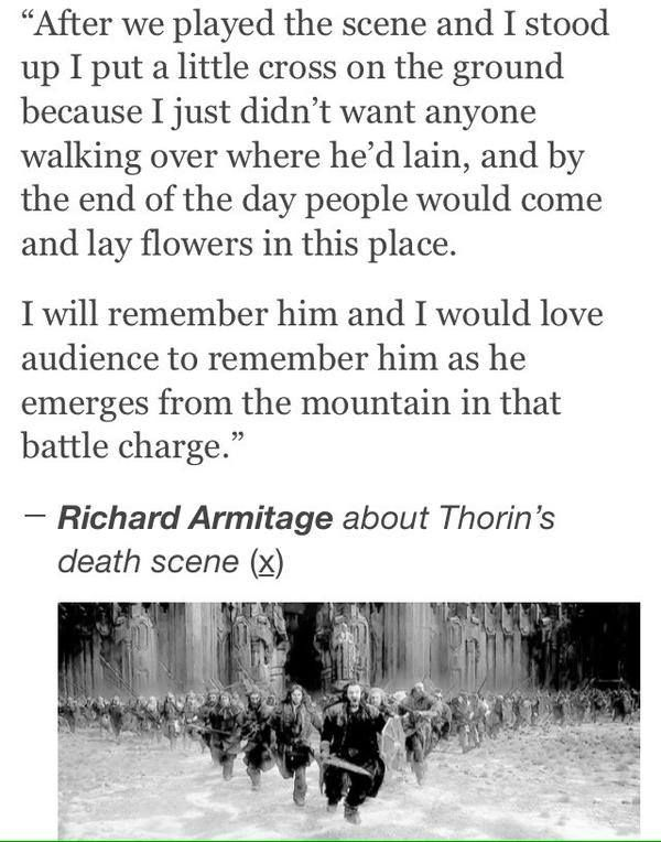 Yes! I thought I was ready for Thorin to die at the end of DoS, but the moment he threw away his crown in BotFA, I realized I was not ready for this... Especially after he made the right choice and led the Sons of Durin in that final charge.