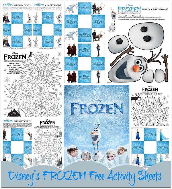 Disney's FROZEN – Free Printable Activity Sheets #printables # ...