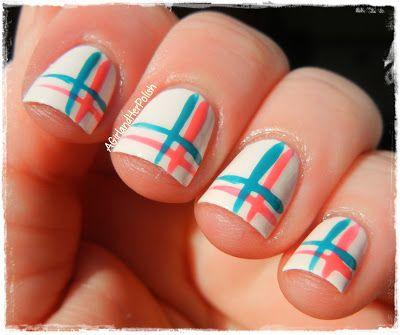 Simple Stripe Nail Art