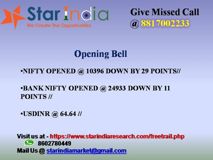 Star India Market Research - SEBI Registered Investment advisory Company In India. Our experts provides trading recommendations in Stock, Commodity and Currency Market.