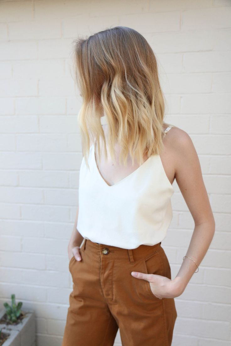Raw Silk Camisole in Natural