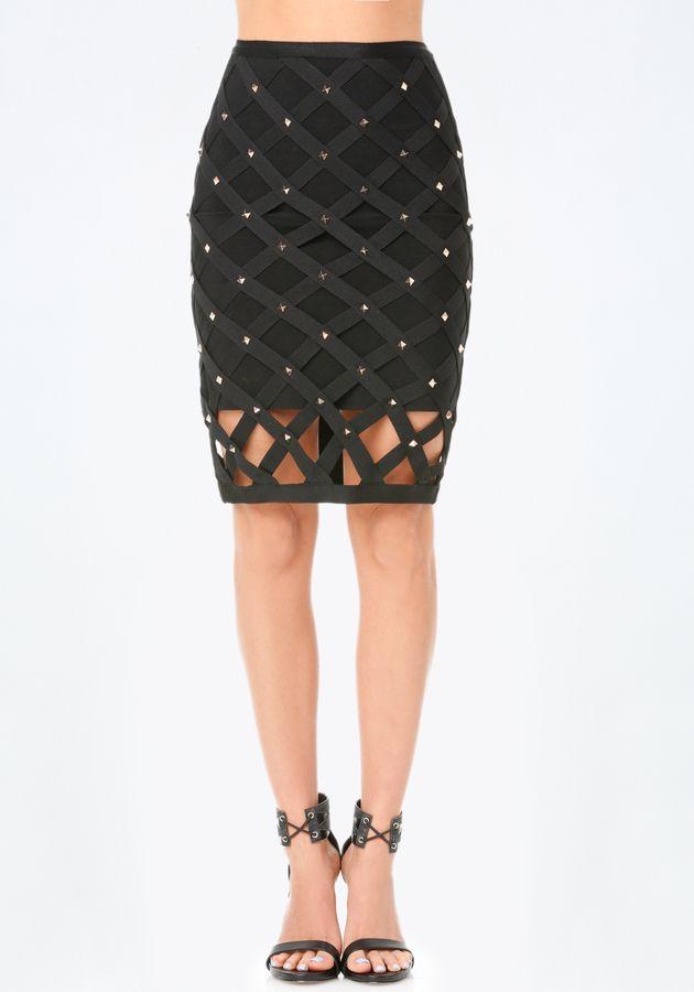 Studded Cage Skirt