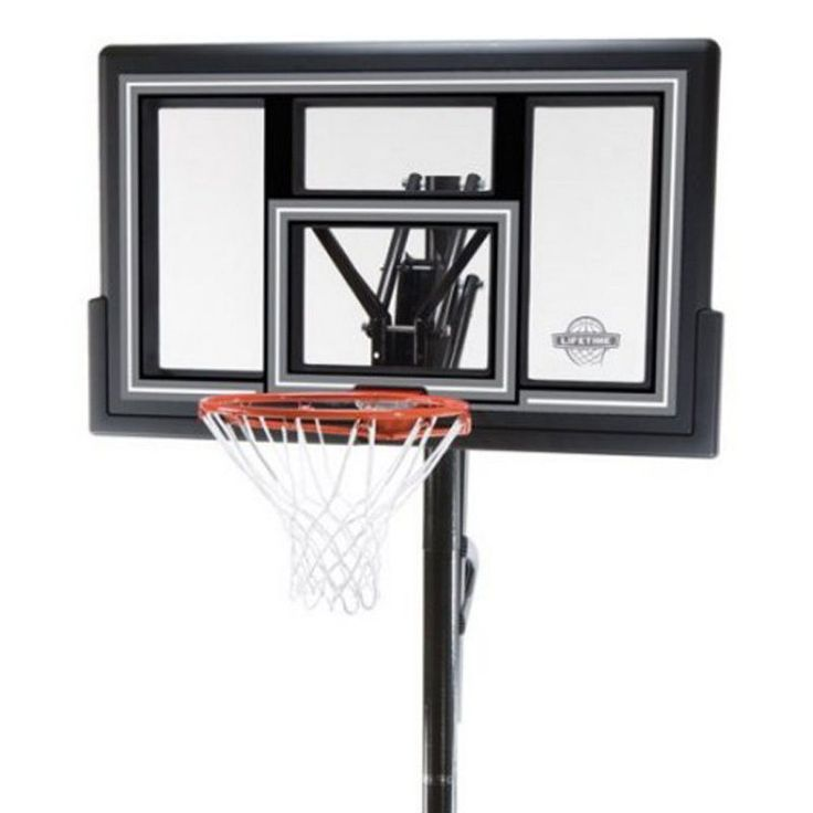 """Lifetime 50"""" In-Ground Shatter Proof Fusion Basketball Hoop w/ Pole (model 1084)…"""
