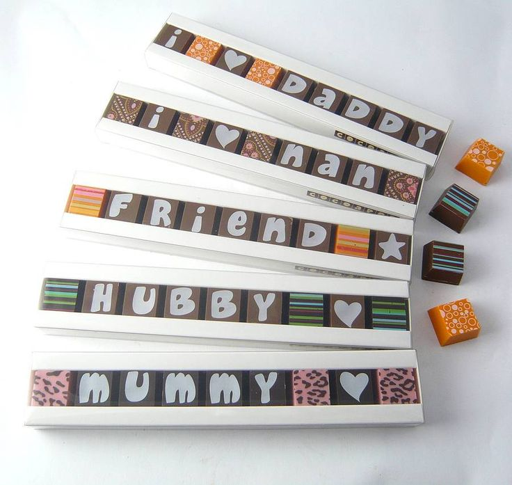 Personalised Chocolates In A Stick Box  by Cocoapod Chocolates