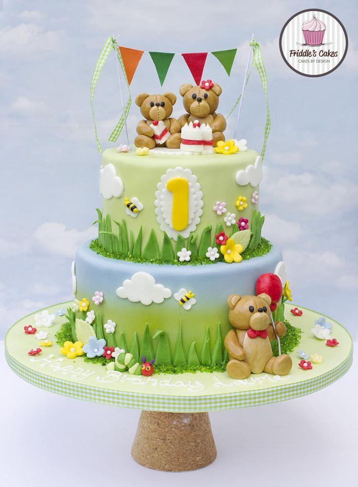 Teddy bears picnic birthday cake