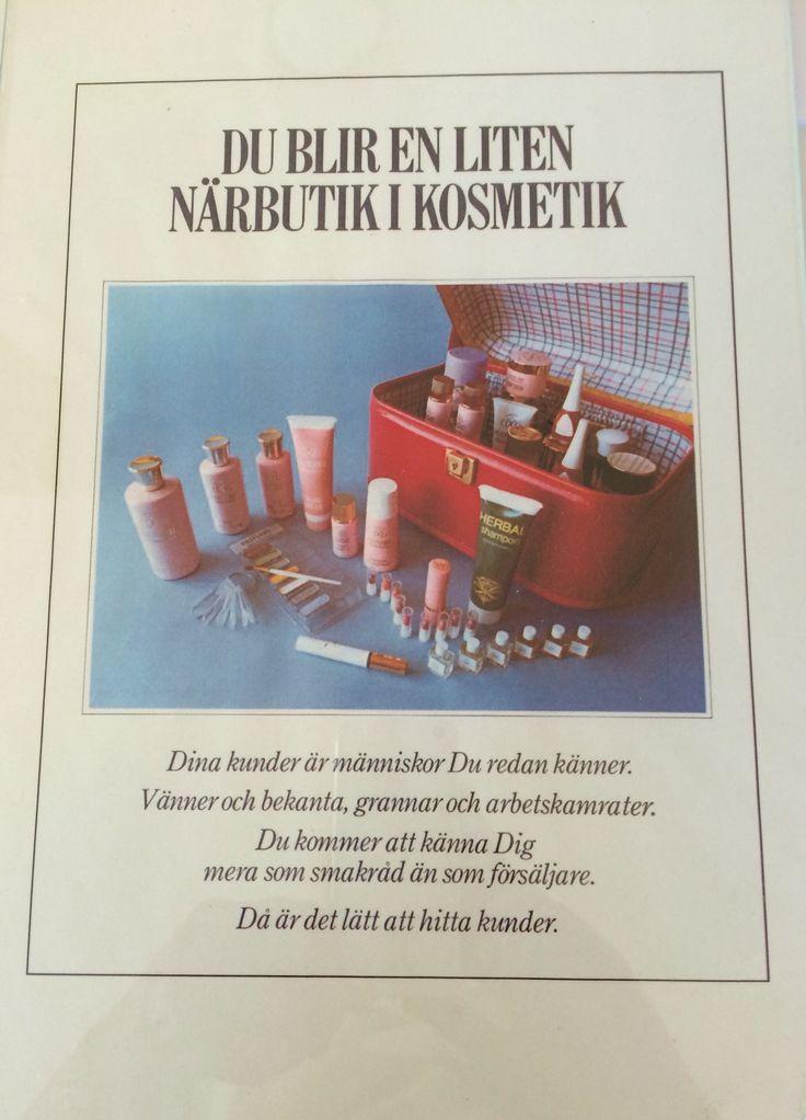 Så här såg visnings/workshops väskan ut på 1970 talet. Kul med kuriosa!