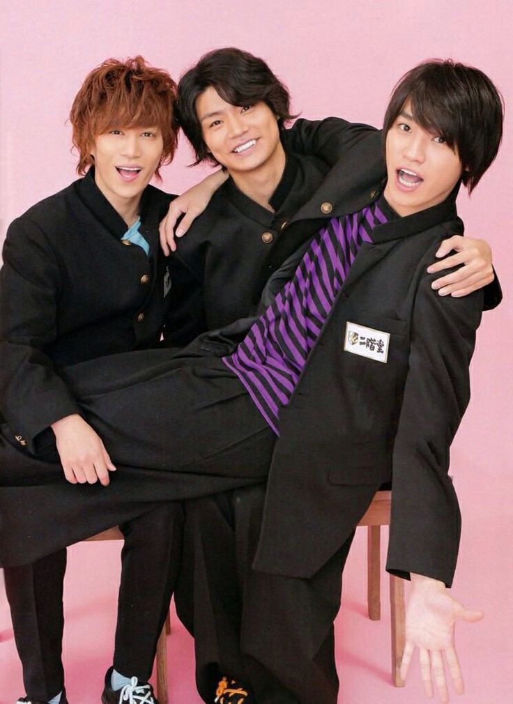Kis-My-Ft2 Kento Senga,Wataru Yokoo and Takashi Nikaido