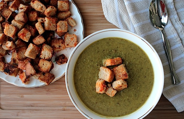 lentil soup with spicy crouton 2 Spikes, Sriracha, Croutons, Lentils ...