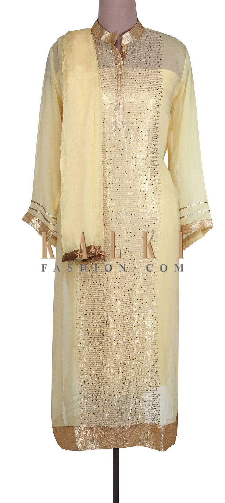 Buy Online from the link below. We ship worldwide (Free Shipping over US$100).  http://www.kalkifashion.com/lime-yellow-semi-stitched-suit-embellished-in-sequin-only-on-kalki.html