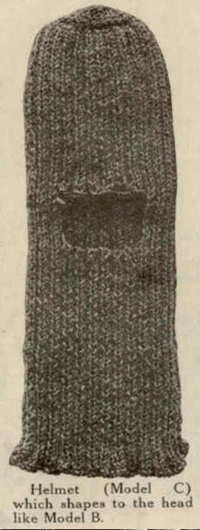 HJS Studio WW I Free Knitting Patterns; 3rd variation of a Balaclava