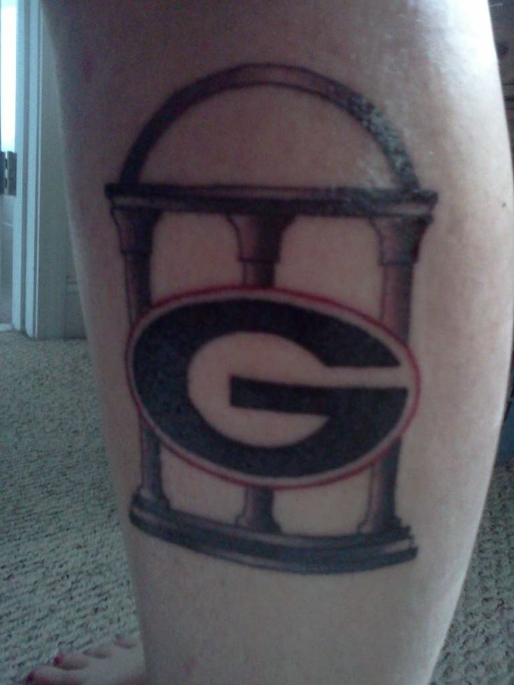 my uga tattoo by jeff inksomnia love it georgia