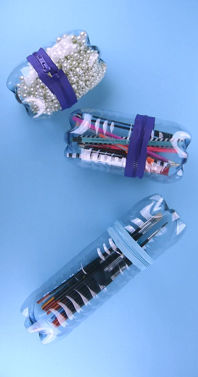 DIY: Stiftebox aus leeren Vöslauer Flaschen #DIY #vöslauer #basteln #stiftebox