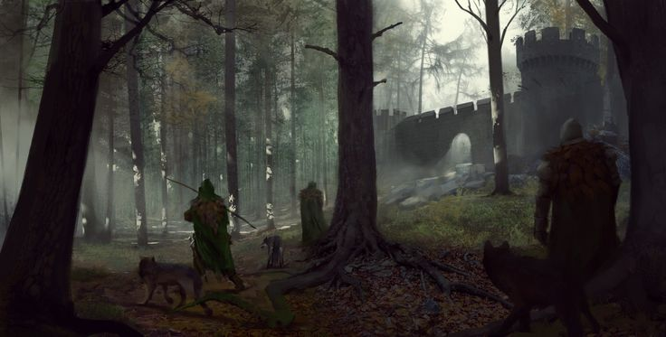 Forest Watch, Maciej Rudnicki on ArtStation at https://www.artstation.com/artwork/215zg