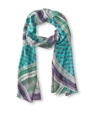 59% OFF Hale Bob Women's Multi-Pattern Scarf, Teal Multi