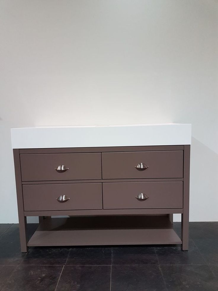 Double Vanity Unit  120cm wide drawer Bathroom Cabinet, Painted WashStand
