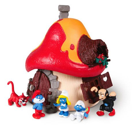 Smurfs. I had this Smurf House and all the characters when i was a kid.