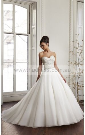Buttons Chapel Train Ball Gown Natural Sweetheart Wedding Dresses gycf1002--Hodress