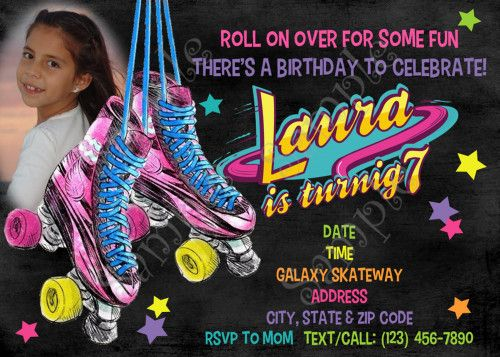 Free Roller Skating Birthday Party Invitations ~ Best roller skates soy luna birthday party ideas cumple soy