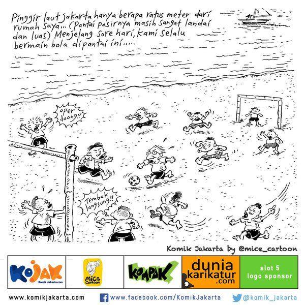 Pinggir Laut Jakarta (Ancol) 1978 by @mice_cartoon - saat ini pinggir laut Jakarta dipenuhi bangkai ikan.