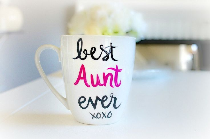 Aunt Mug | Aunt Gift | Gifts for Her | New Aunt Gift | Birth Announcement | Best Aunt Ever | Aunt Christmas Gift | Hand Painted Coffee  Mug by Brusheswithaview on Etsy https://www.etsy.com/listing/251704435/aunt-mug-aunt-gift-gifts-for-her-new