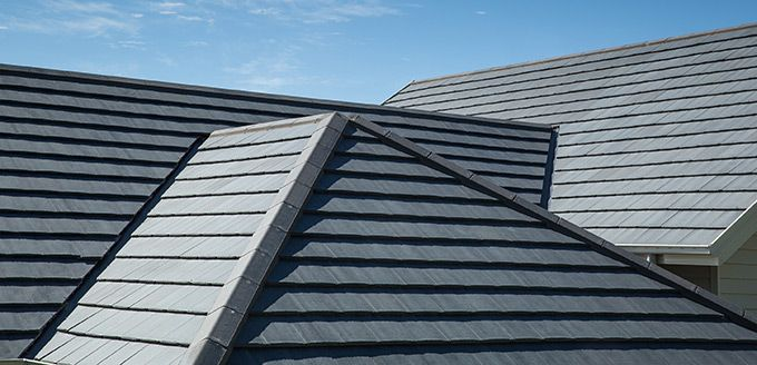 What a roof! The perfect 'Slate Look' with Monier Cambridge roof tiles.