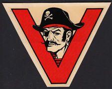 Ventura Junior College _RARE ORIG 40's Decal VTG VJC Pirates California Ar Matey