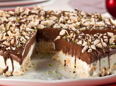 Torta-merengue com sorvete de limão e chocolate - Receita CyberCook