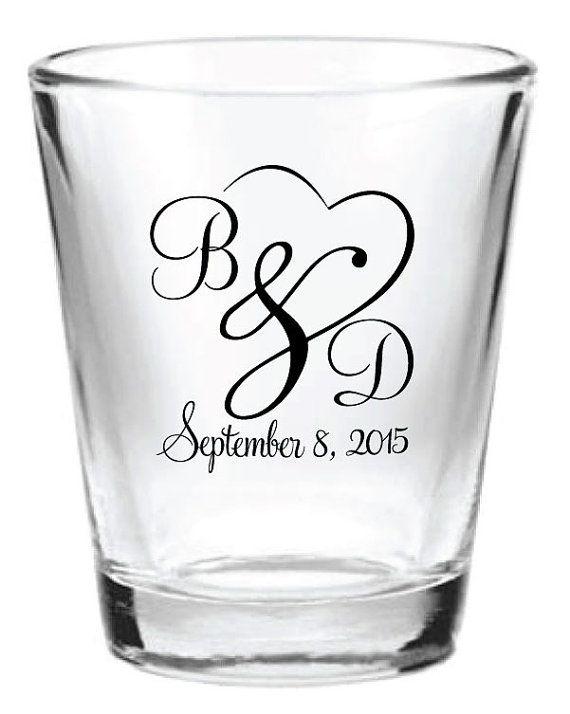 144 custom wedding favor glass shot glasses new wedding favors wedding favor ideas