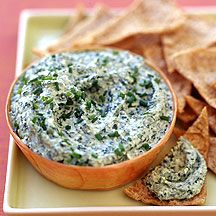 WW Feta and Spinach Dip:  8 servings; 2 points+ per serving
