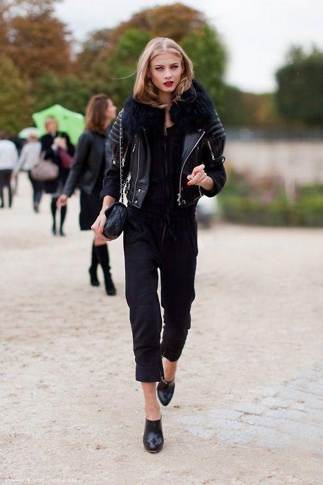 rad blackout. #AnnaSelezneva #offduty in Paris.