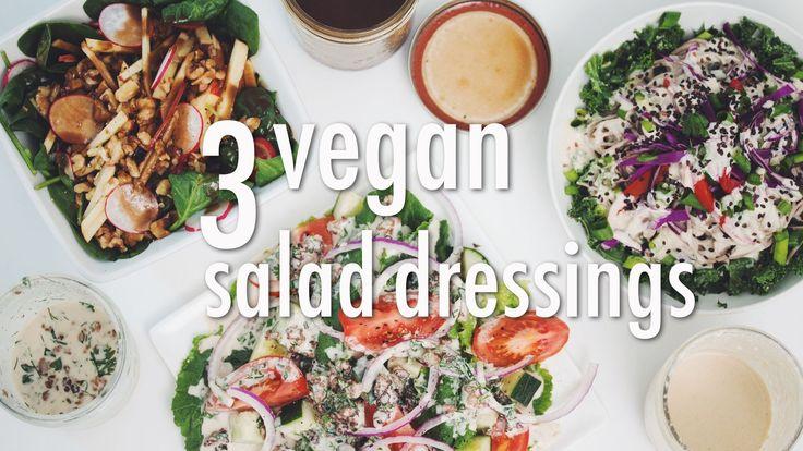 3 Vegan Salad Dressings