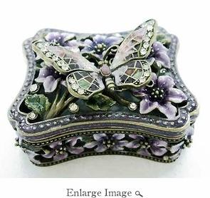 Jeweled & Enameled Mosaic Butterfly Box