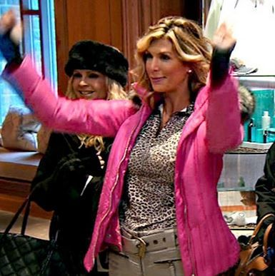 Alexis Bellino's Pink Ski Jacket & My Cold Weather Coat / Accessory Picks | Big Blonde Hair : Big Blonde Hair DETAILS: http://www.bigblondehair.com/real-housewives/rhoc/alexis-bellinos-pink-ski-jacket-cold-weather-coat-accessory-picks/
