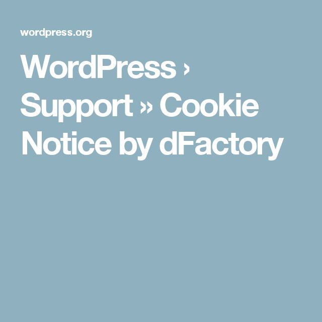 WordPress › Support » Cookie Notice by dFactory