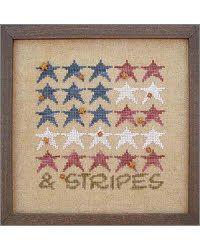Stars...Looks like corkboard and stencil...easy and cute..gotta love americana...
