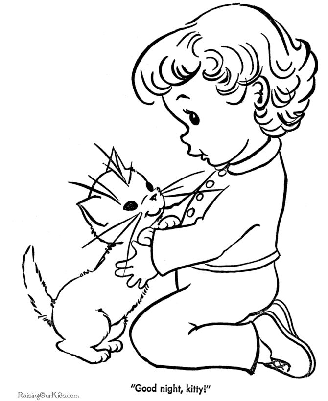 Cute Kitten Coloring Pages Sheet Of