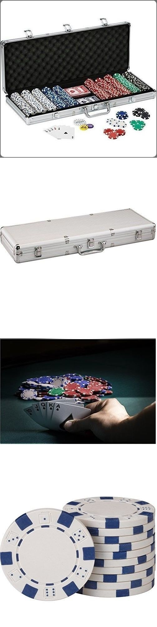 Poker Chips 166570: 500 Poker Striped Dice Chips Set Aluminum Lockable Case Complete Card Game Set -> BUY IT NOW ONLY: $59.85 on eBay!