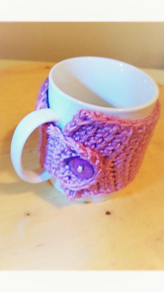 Coffee Mug Wrap Purple Coffee Mug Cozy AKA Lilac Mug Wrap