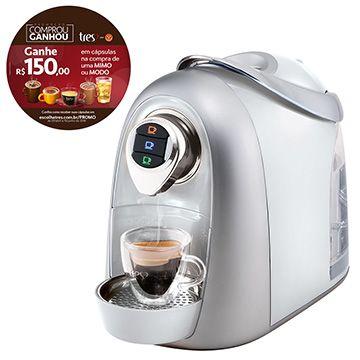 (eFácil) Cafeteira Expresso Modo Branca 110V - Tres - de R$ 798.98 por R$ 473.89 (41% de desconto)
