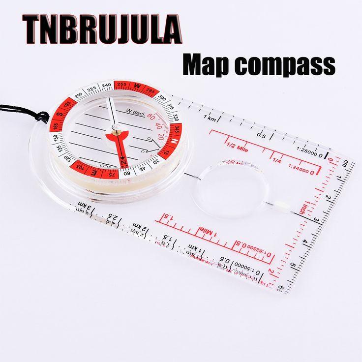 Outdoor climbing compass map compass portable scale compass  free shipping