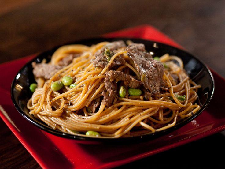 Teriyaki Noodles from FoodNetwork.com