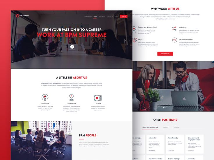 Bpm Supreme: Career Page Design by Naresh Kumar