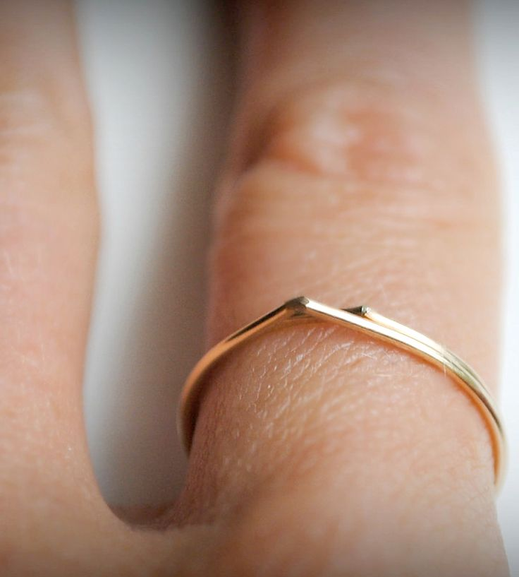 Gold Raindrop Ring