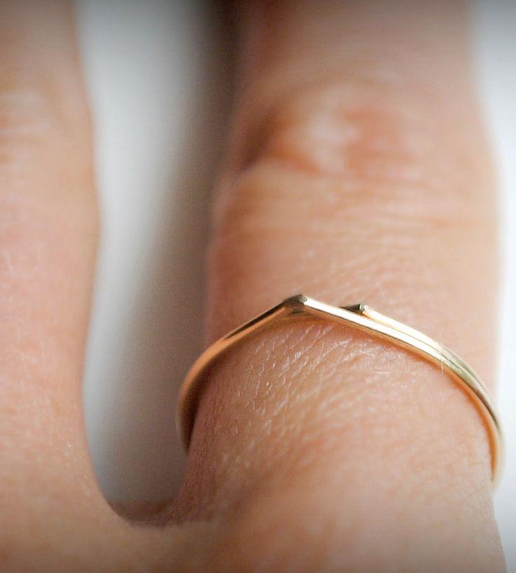 Gold Raindrop Ring