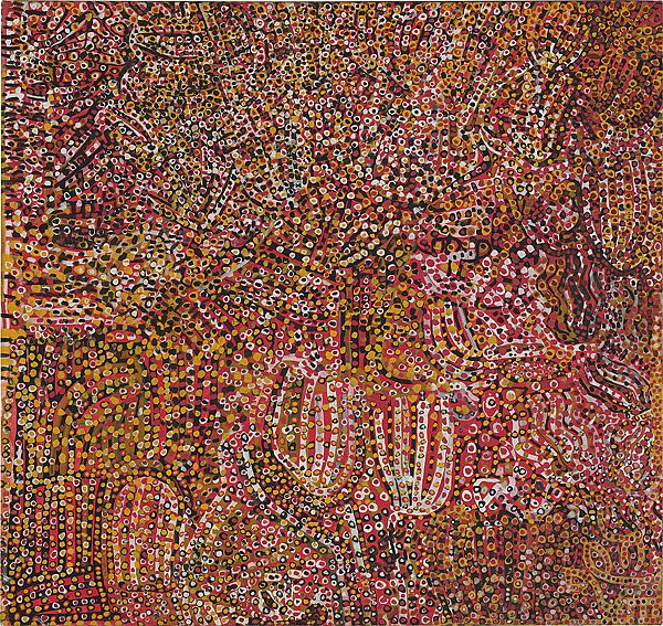 Emily Kame Kngwarreye. Ntange Dreaming, 1989. Synthetic polymer paint on canvas. 135.0 h x 122.0 w cm.