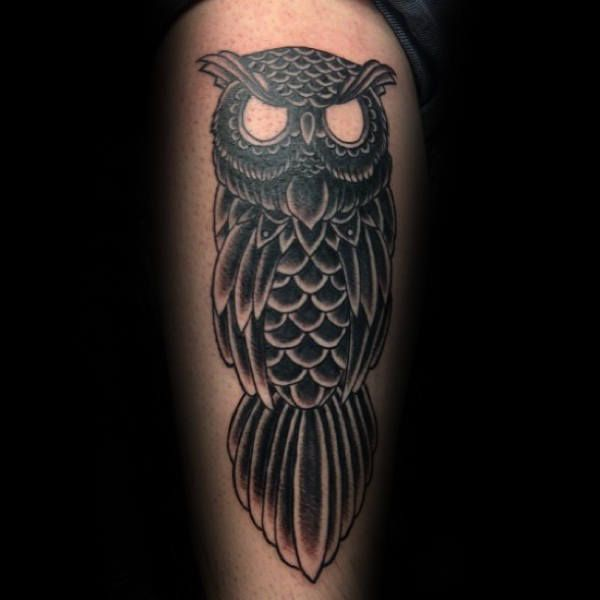 70 Traditional Owl Tattoo Designs For Men Wise Ink Ideas Owl Tattoo Small Black Owl Tattoo Traditional Owl Tattoos