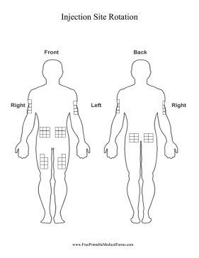 Use this printable chart of the human body to track