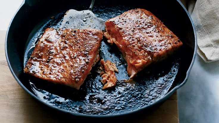 Steal a secret from food stylists the next time you're serving salmon and reach for the brown sugar. Gasp! How could we, you ask? Well, a light coating of the sweet stuff caramelizes into a shiny, picture-perfect glaze, creating gorgeous salmon that tastes outrageously good with just a few pantry-staple seasonings. Be sure to use the dark, molasses-rich kind—or substitute less-processed sucanat if that'll help you sleep at night. But trust us, you'll be dreaming about making this again.