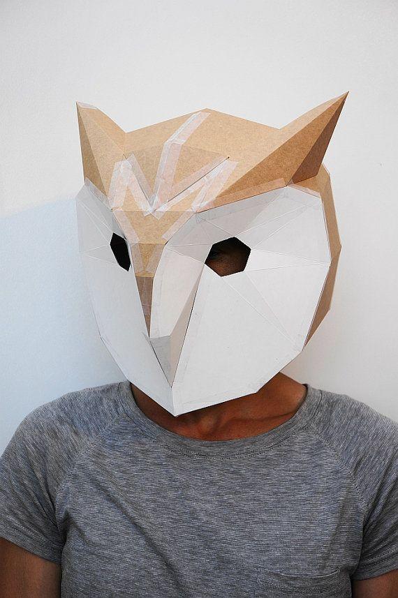 Máscara de búho hacer tu propio con este simple por Wintercroft