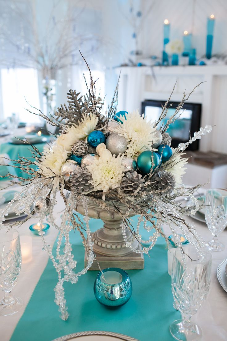 493 best winter wonderland ideas images on pinterest White christmas centerpieces